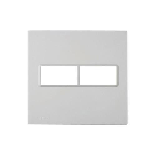 placa-4x4-para-2-modulos-delta-branca